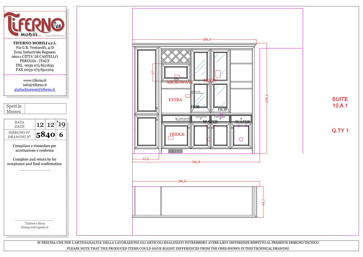 Disegno tecnico professionale Tiferno Mobili