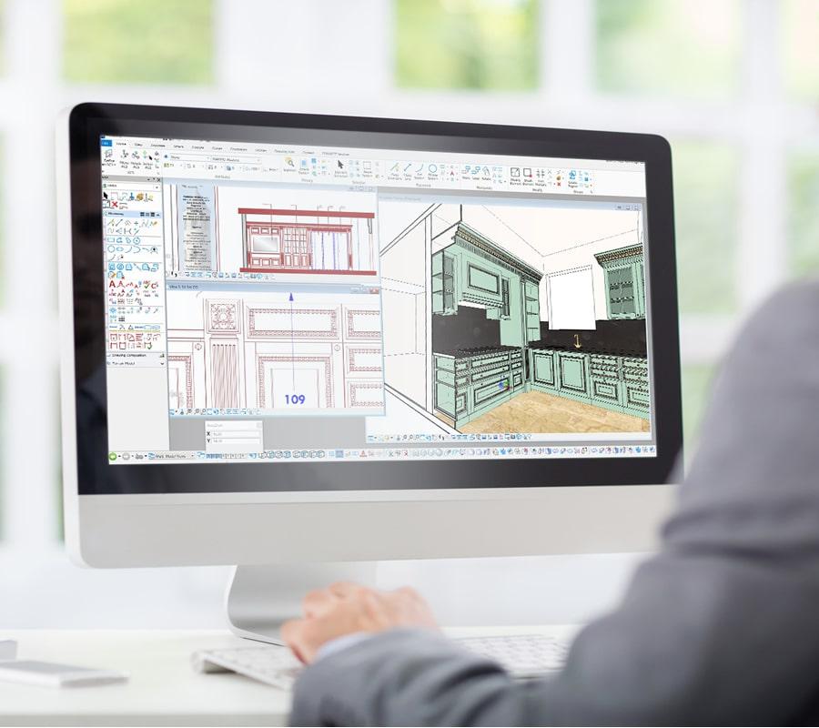 Disegno tecnico per progettazione camera e cabina armadio