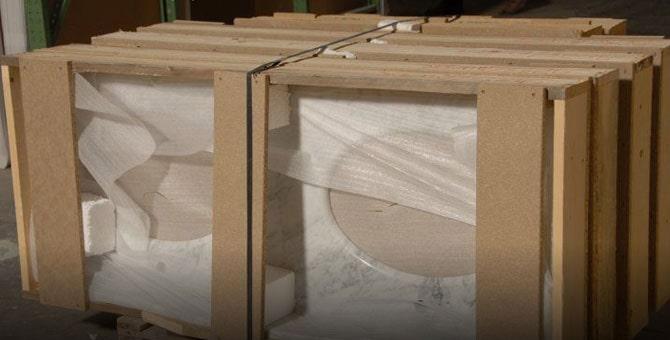 Piani in marco in casse di legno
