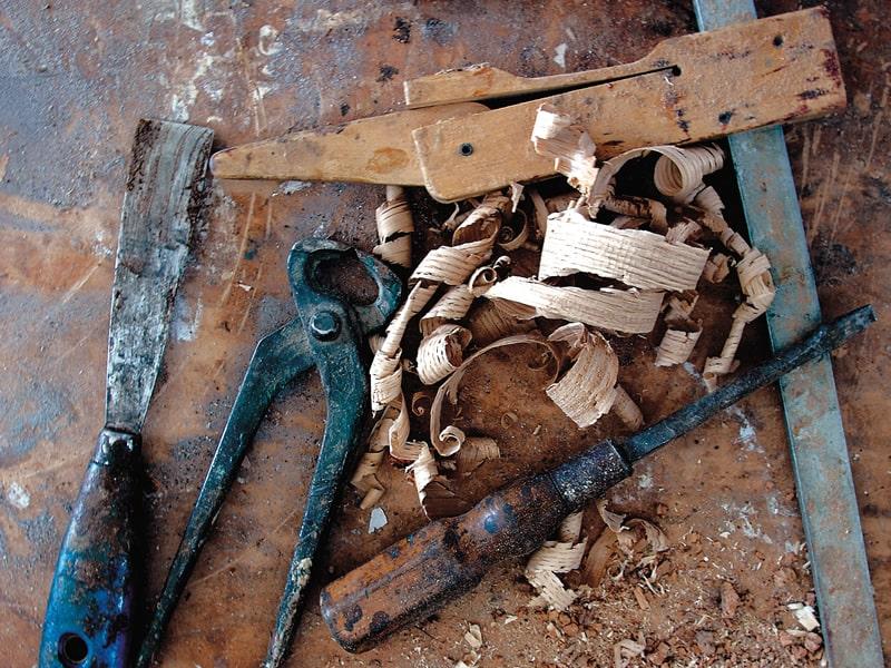Trucioli intaglio legno fatto artigianalmente