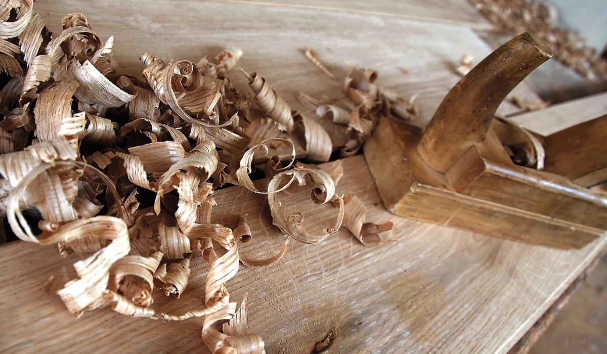 Trucioli legno levigatura