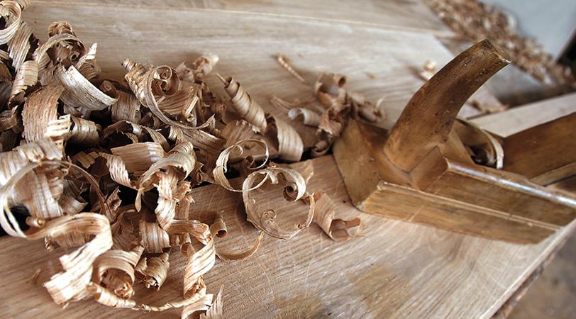 Trucioli lavorazione legno