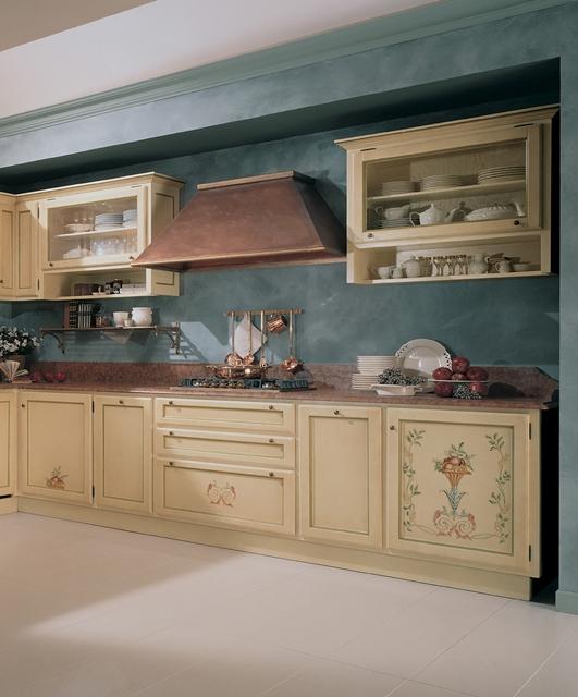 """Cucina con decoro """"Vasi di Frutta"""""""