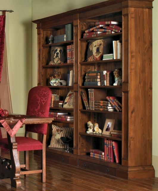 Libreria con due cassetti in basso