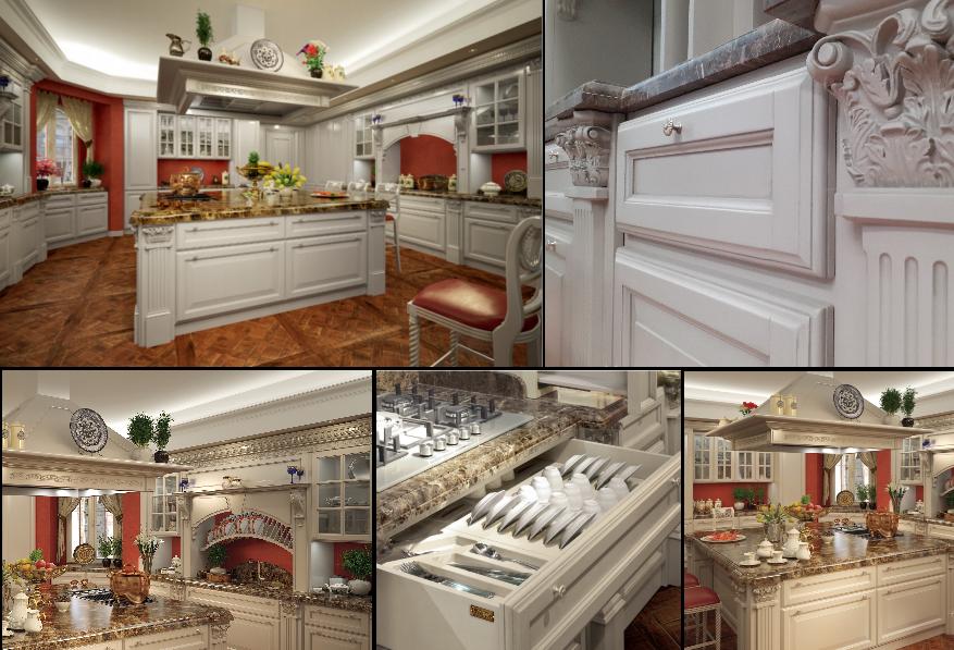 Uno stile georgiano in cucina